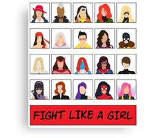 Fight Like A (Marvel) Girl. Canvas Print