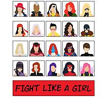 Fight Like A (Marvel) Girl. Photographic Print
