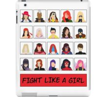 Fight Like A (Marvel) Girl. iPad Case/Skin