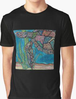 Swimming Sea Turtle Graphic T-Shirt