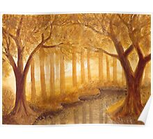 Autumn Forest I ~ Watercolor Painting Poster
