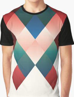 Ruby-Emerald Geo Graphic T-Shirt