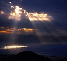 Natural spotlights at the Messenian Gulf by Hercules Milas