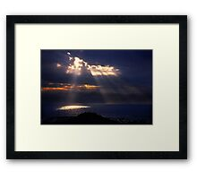 Natural spotlights at the Messenian Gulf Framed Print