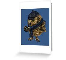 Sherlock // owl Greeting Card