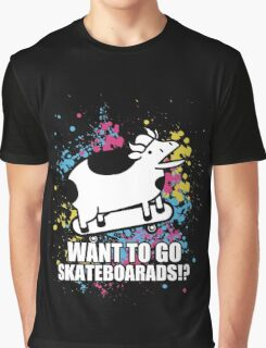 Want To Go Skateboards Graphic T-Shirt