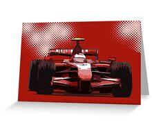 Championship Cars - Kimi 2007 Greeting Card