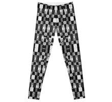 Black and White Geometric Tribal Pattern Leggings