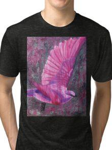 Pink Bird Joy Tri-blend T-Shirt