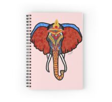 Decorated Indian Elephant Spiral Notebook