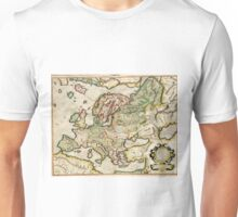 Vintage Map of Europe (1596) Unisex T-Shirt