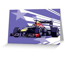 Championship Cars - Vettel 2013 Greeting Card