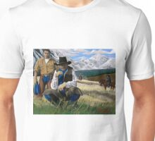 The Posse on the High Plains Trail. Unisex T-Shirt