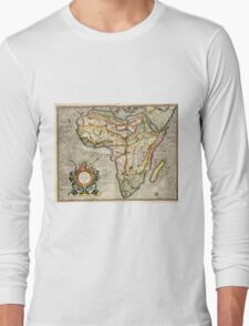 Vintage Map of Africa (1596) Long Sleeve T-Shirt