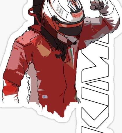 Kimi Raikkonen (WDC 2007) Sticker