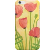 Red Poppies ~ Watercolor Painting iPhone Case/Skin