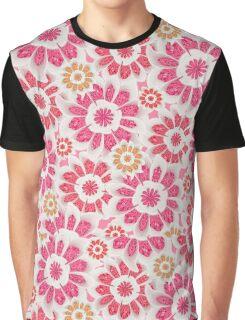Feminine Flowers Pattern Graphic T-Shirt