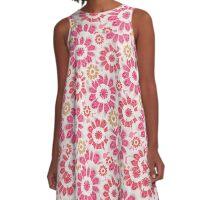 Feminine Flowers Pattern A-Line Dress