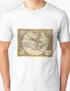 Vintage Map of The Western Hemisphere (1596) Unisex T-Shirt