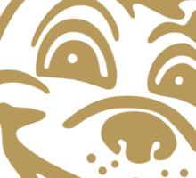 #WhereIsRoscoe (Black & Gold) Sticker