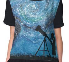 Observing the Universe ~ Watercolor Painting Chiffon Top