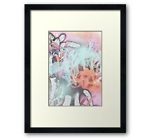 Graffiti Scrawl Framed Print