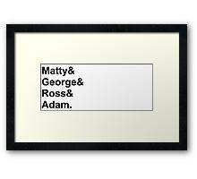 the 1975 names Framed Print