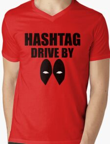 HASHTAG DRIVE BY Mens V-Neck T-Shirt