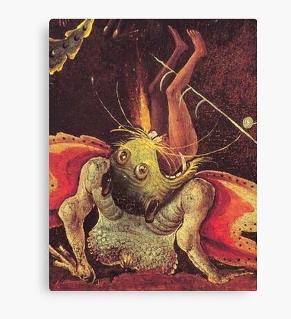 Weird Demon by Hieronymus Bosch Canvas Print
