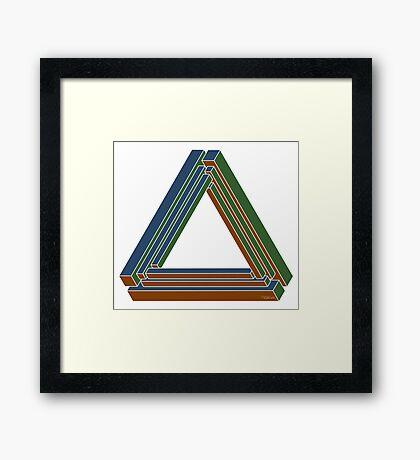 Sarcone's tribar Framed Print