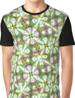 Neo Noveau Style Floral Pattern in Cold Tones  Graphic T-Shirt