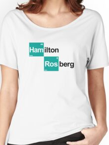 Team Hamilton Rosberg (white T's) Women's Relaxed Fit T-Shirt