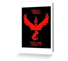 Team Valor - Team Red Greeting Card
