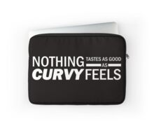 Curvy Feels - White Text Laptop Sleeve
