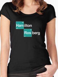 Team Hamilton Rosberg (black T's) Women's Fitted Scoop T-Shirt