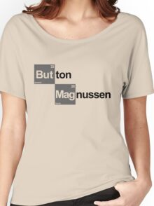 Team Button Magnussen (white T's) Women's Relaxed Fit T-Shirt