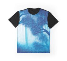 Blue Forest ~ Watercolor Painting Graphic T-Shirt