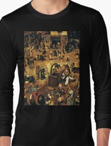 The Fight by Hieronymus Bosch Long Sleeve T-Shirt