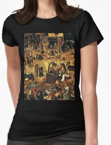The Fight by Hieronymus Bosch Womens Fitted T-Shirt