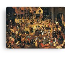 The Fight by Hieronymus Bosch Canvas Print