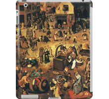 The Fight by Hieronymus Bosch iPad Case/Skin