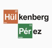 Team Hulkenberg Perez (white T's) by Tom Clancy