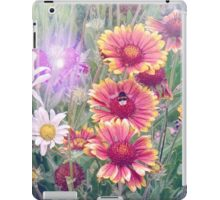 Multi Coloured Flowers with Bee iPad Case/Skin