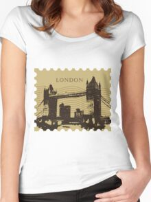 London Pos 2 Women's Fitted Scoop T-Shirt