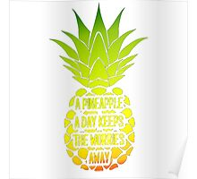 A Pineapple A Day Poster