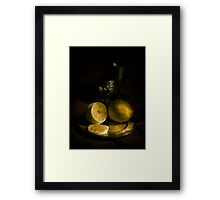 A taste of lemon Framed Print