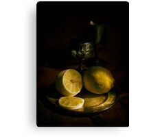 A taste of lemon Canvas Print