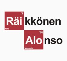 Team Raikkonen Alonso (white T's) by Tom Clancy