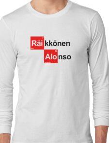 Team Raikkonen Alonso (white T's) Long Sleeve T-Shirt