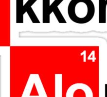 Team Raikkonen Alonso (white T's) Sticker